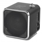 Portable Media Player Speaker w/ TF / USB / FM - Black + Silver