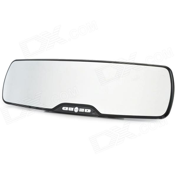 2.7'' TFT 5.0MP CMOS Wide Angle Car DVR Rearview Mirror w/ 6-IR LED / G-sensor