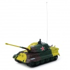 GREATWALL TOYS 2117B-3 14-CH German Tiger Style R/C Tank Model w/ Remote Control - Green + Yellow