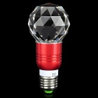 ChuanZeZhaoMing E27 3W 60lm RGB Light 16-Color Changed Crystal Lamp w/ Remote - White + Red