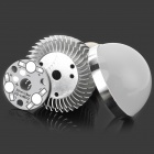 UltraFire LZ-08 E27 3 x 1W 3-LED Bulb Accessories Aluminum Housing Shell - Silver + White (85~265V)