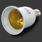 LSON E14 Male to E27 Female Light Lamp Bulb Plug Converter Adapter - White + Silver (85~265V)