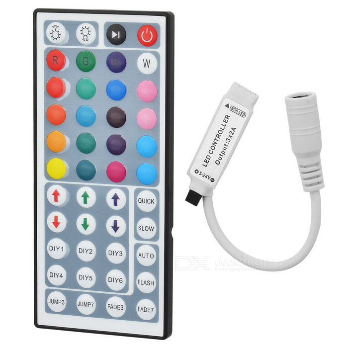 LSON 44 5050 3528 LED RGB Lamp Strip IR Controller - White
