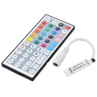Mini Controller + IR 44-Key Remote Controller for SMD 5050 / 3528 LED RGB Lamp Strip - White