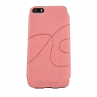 TL960 Stone Pattern Protective PU Leather Case Cover w/ Card Slot for IPHONE 5 / 5S - Pink