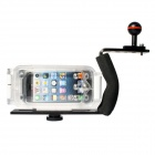 Meikon Professional Waterproof Case for IPHONE 5 / 5C / 5S - White + Transparent