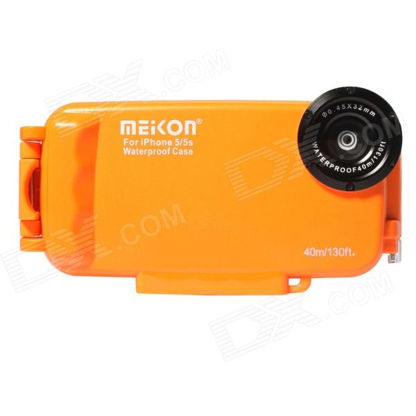 Meikon Professional Waterproof Case for IPHONE 5 / 5C / 5S - Orange + Transparent