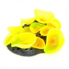 E4YK Decorative Simulation Soft Water Plant for Aquarium Fish Tank - Yellow