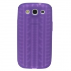 Fashionable Wheel Pattern Protective Silicone Back Case for Samsung Galaxy S3 i9300 - Purple