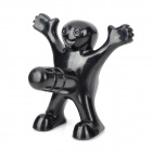 Novel Funny Little Man Style Beer Bottle Stopper - Black