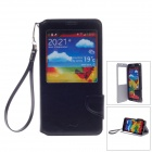 iPai HS3248 Head Layer Cowhide Case Cover Stand w/ Visual Window for Samsung Galaxy Note 3 - Black