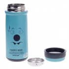 JINFENG Drops Of Sweat Expression Stainless Steel Thermos Cup w/ Filter - Blue + Black (320mL)