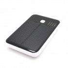 JY-26 Universal Dual-USB 5000mAh Solar Energy Powered Power Source Bank for Samsung / IPHONE - White