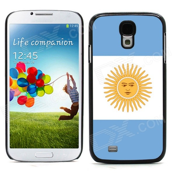 2014 World Cup Argentinian Flag Pattern Aluminum alloy Case w/ Card Slot for Samsung Galaxy S4 i9500 aluminum alloy 20x telephoto lens w tripod case for samsung i9500