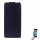 SAYOO Crocodile Striation Vertical Open Protective PU Leather Case Cover for IPHONE 5 / 5S - Black