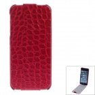 SAYOO Crocodile Striation Vertical Open Protective PU Leather Case Cover for IPHONE 5 / 5S - Red