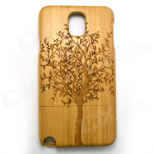 Big Tree Pattern Detachable Protective Bamboo Back Case for Samsung Galaxy Note 3 N9000 - Yellow