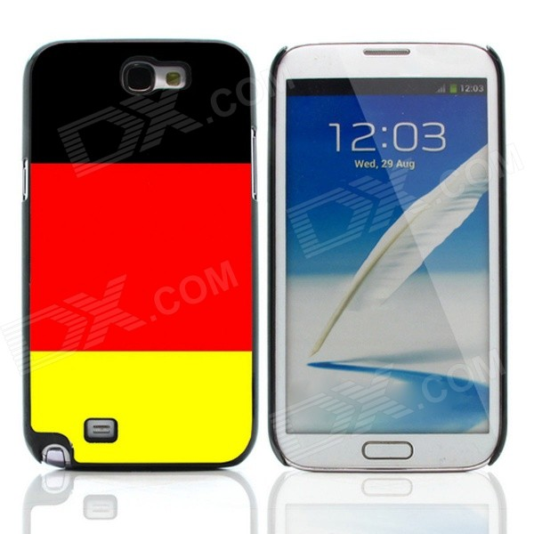 2014 World Cup German Flag Pattern Aluminum Alloy Case w/ Card Slot for Samsung Galaxy Note 2 N7100