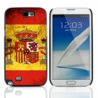 2014 World Cup Spanish Flag Pattern Aluminum Alloy Case w/ Card Slot for Samsung Galaxy Note 2 N7100