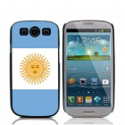 2014 World Cup Argentinian Flag Pattern Aluminum Alloy Case w/ Card Slot for Samsung Galaxy S3 i9300