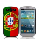 2014 World Cup Portuguese Flag Pattern Aluminum Alloy Case w/ Card Slot for Samsung Galaxy S3 i9300