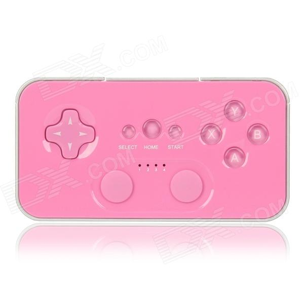Bluetooth V3.0 Gamepad for Apple / Android System - Pink pg 9027 bluetooth selfie remote controller shutter ball for iphone android phones 1 x cr2032