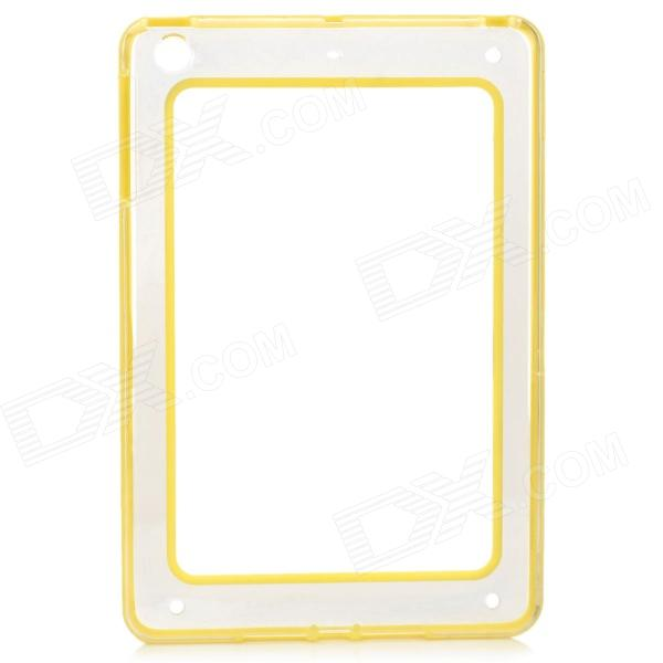 Protective ABS + Silicone Bumper Case for IPAD MINI / RETINA IPAD MINI - Yellow + Transparent protective abs silicone bumper case for ipad mini retina ipad mini purple transparent