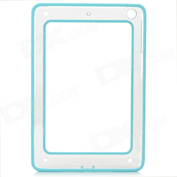 Protective ABS + Silicone Bumper Case for IPAD MINI / RETINA IPAD MINI - Light Blue + Transparent protective abs silicone bumper case for ipad mini retina ipad mini purple transparent