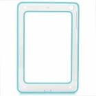 Protective ABS + Silicone Bumper Case for IPAD MINI / RETINA IPAD MINI - Light Blue + Transparent