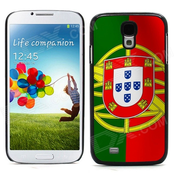 2014 World Cup Unique Portuguese Flag Pattern Aluminum Alloy Case w/ Card Slot for Samsung Galaxy S4
