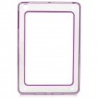 Protective ABS + Silicone Bumper Case for IPAD MINI / RETINA IPAD MINI - Purple + Transparent