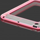 Protective ABS + Silicone Bumper Case for IPAD MINI / RETINA IPAD MINI - Pink + Transparent