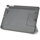 Protective PU Leather + PC Case w/ Hand Strap Holder for IPAD AIR - Silver + Black