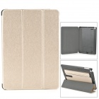 Protective PU Leather + PC Case w/ Hand Strap Holder for IPAD AIR -  Light-Gold + Black
