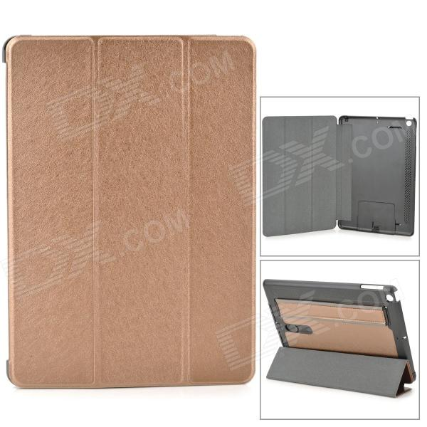 все цены на Protective PU Leather + PC Case w/ Hand Strap Holder for IPAD AIR - Champagne + Black онлайн