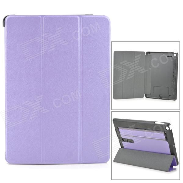 все цены на Protective PU Leather + PC Case w/ Hand Strap Holder for IPAD AIR - Purple + Black онлайн