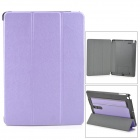 Protective PU Leather + PC Case w/ Hand Strap Holder for IPAD AIR - Purple + Black