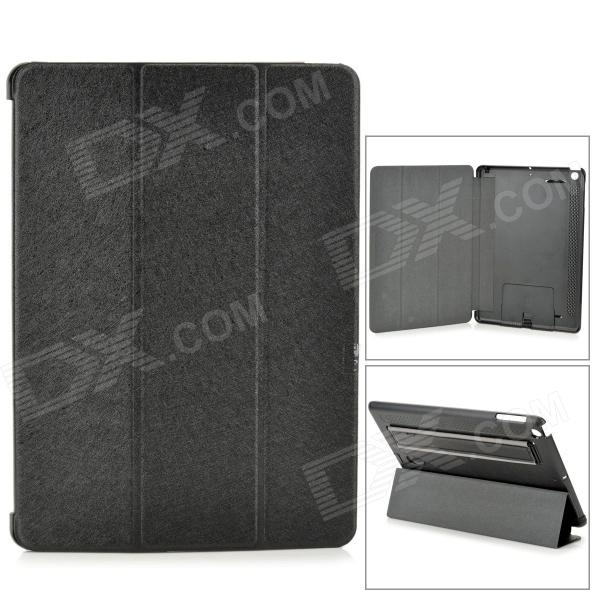 все цены на Protective PU Leather + PC Case w/ Hand Strap Holder for IPAD AIR - Black онлайн