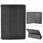Protective PU Leather + PC Case w/ Hand Strap Holder for IPAD AIR - Black