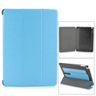 Protective PU Leather + PC Case w/ Hand Strap Holder for IPAD AIR -  Blue + Black