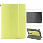 Protective PU Leather + PC Case w/ Hand Strap Holder for IPAD AIR - Green + Black