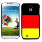 2014 World Cup Unique German Flag Pattern Aluminum Alloy Case w/ Card Slot for Samsung Galaxy S4
