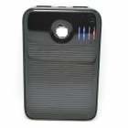 JY-26 Universal-Dual-USB-5000mAh Solar Energy Powered Stromversorgung Bank für Samsung / IPHONE - Schwarz