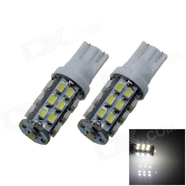 T10 / W5W 3W 200lm 25 x SMD 3020 LED White Car Side Light / Clearance / Reading lamp - (12V / 2 PCS) 2 x t10 led w5w canbus car side parking light bulbs with projector lens for mercedes benz c250 c300 e350 e550 ml550 r320 r350