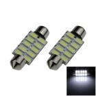 Festoon 39 milímetros 5W 400lm 10 x SMD 5630 LED Branco Car Light Reading / Telhado Lamp - (12V / 2 PCS)