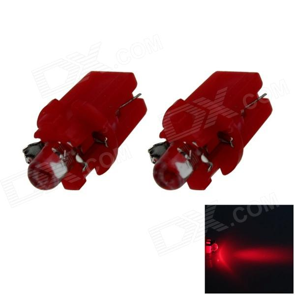 B8.3 0.1W 18lm LED Red Light Car Dashboard Lamp / Instrument  Light - (DC 12V / 2 PCS) b8 5 0 1w 18lm led green light car dashboard lamp instrument light dc 12v 2 pcs