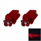 B8.3 0.1W 18lm LED Red Light Car Dashboard Lamp / Instrument  Light - (DC 12V / 2 PCS)