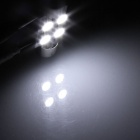 Festoon 36 milímetros 0.8W 60lm 4 x SMD 5050 LED White Light Car Leitura / Roof / Dome Lamp-(12V / 2 PCS)