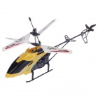 X985 Rechargeable 2-CH R/C Helicopter w/ Gyroscope - Yellow + Black + White