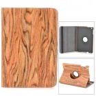 KWEN MW-Mini1 Bark Grain Style Protective PU Leather Case for IPAD MINI - Brown